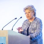 Viviane Reding giving a speech at the ECLA Annual Conference
